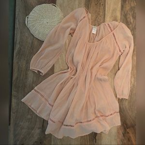 L Space peach gauze coverup dress/ tunic, size XS